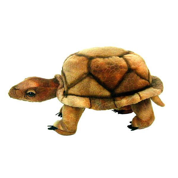 "Hansa Wood Turtle 9"" Plush Toy"""