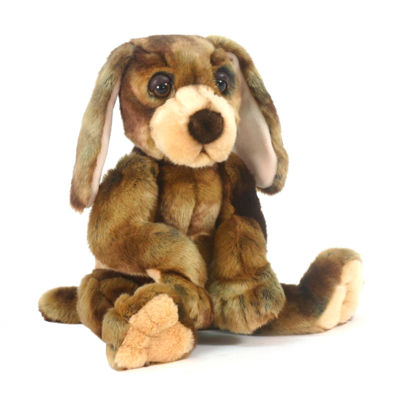 "Hansa Wow Wow Hound Dog 12"" Plush Toy"""