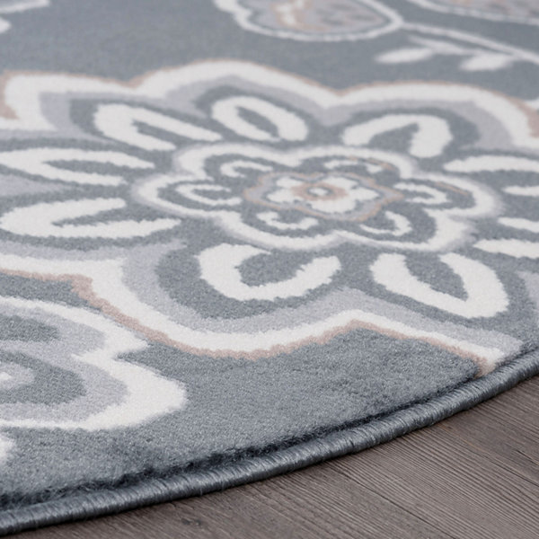Tayse Emmalyn Transitional Floral Rug