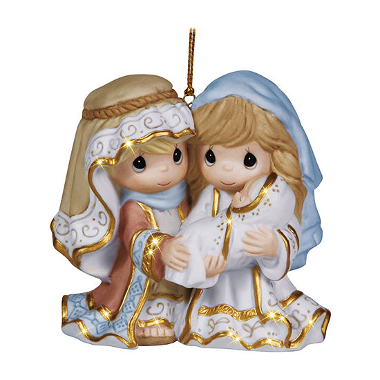 """Precious Moments  """"Unto Us A Child Is Born""""  Bisque Porcelain Ornament  #131031"""
