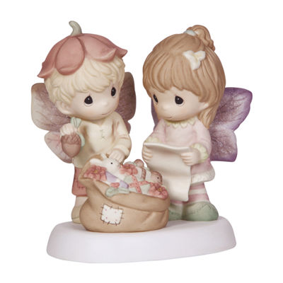 "Precious Moments  ""Christmas Memories Are Made With Love""  Bisque Porcelain Figurine  #131042"