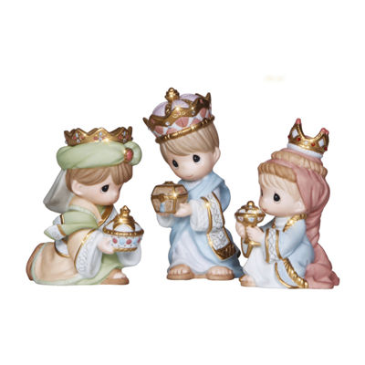 "Precious Moments  ""We Three Kings""  Bisque Porcelain Figurine  3-Piece Set  #131034"
