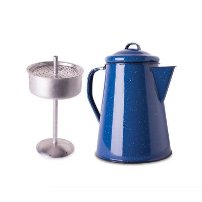 Stansport 8-Cup Enamel Perculator with Basket Coffee Pot