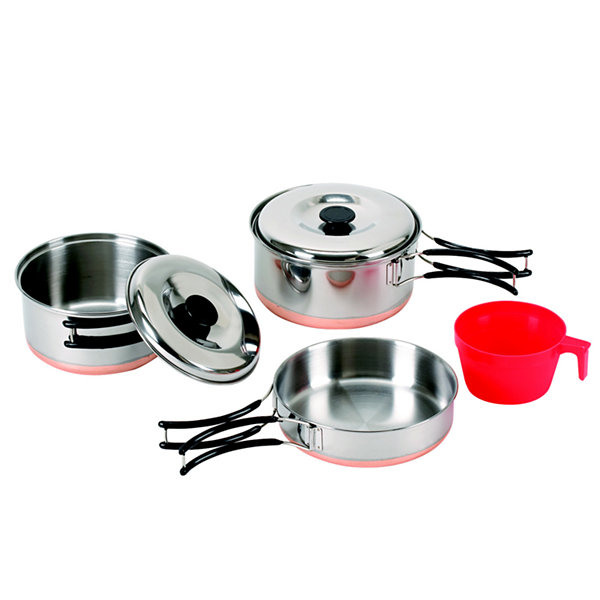 Stansport One-Person Stainless Cook Set