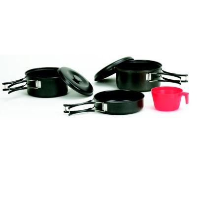 Stansport One-Person 6-piece Black Granite Steel Cook Set