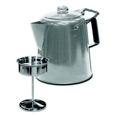 Stansport 28-Cup Stainless Steel Percolator Coffee Pot