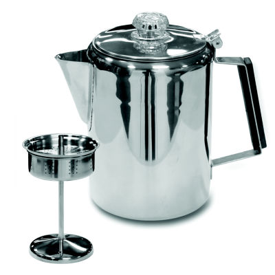 Stansport 9-Cup Stainless Steel Percolator Coffee Pot