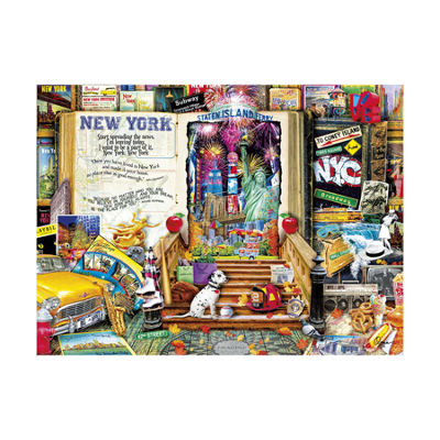 Buffalo Games Aimee Stewart Collection - Life is an Open Book - New York: 1000 Pcs