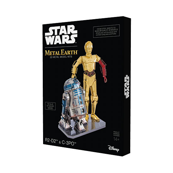 Fascinations Metal Earth Star Wars C-3po And R2-D2 3d Metal Model Kit