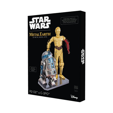Fascinations Metal Earth Star Wars C-3po And R2-D2 3d Metal Model Kit, One Size , Multiple Colors