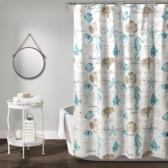 Lush Decor Harbor Life Shower Curtain