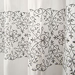 Lush Decor Scroll Medallion Shower Curtain