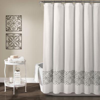 Lush Decor Scroll Medallion Shower Curtain