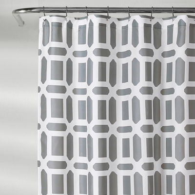 Lush Decor Sequoia Geo Shower Curtain
