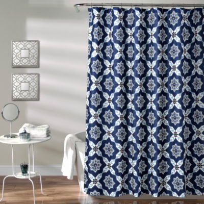 Lush Decor Venus Medallion Shower Curtain