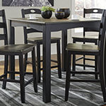 Signature Design by Ashley®  Froshburg 5-Piece Square Counter Height Dining Set