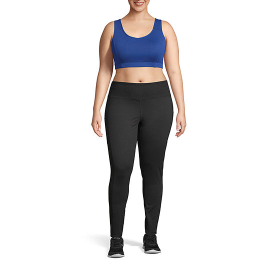 Champion Womens Mid Rise Full Length Leggings Plus
