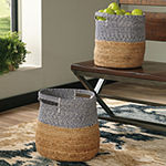 Signature Design By Ashley® Set of 2 Parrish Color Blocked Baskets
