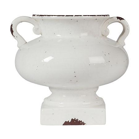 Signature Design By Ashley Dierdra Short Urn, One Size , White