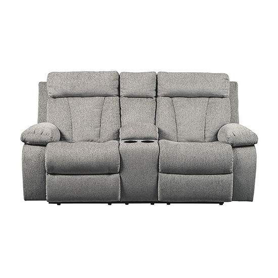 Signature Design By Ashley® Mitchiner Reclining Loveseat With Console