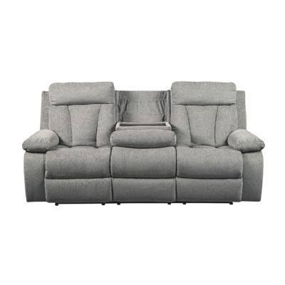 Signature Design By Ashley® Mitchiner Reclining Sofa With Drop Down Table