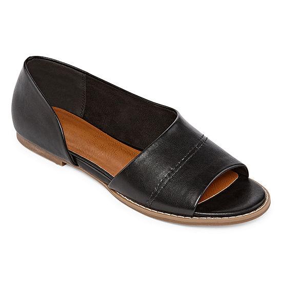 Arizona Womens Boley Open Toe Slip-On Shoe