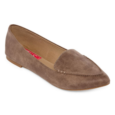 Pop Womens Ledge Slip-on Closed Toe Ballet Flats