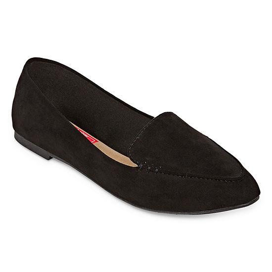 Pop Womens Ledge Slip-on Closed Toe Ballet Flats