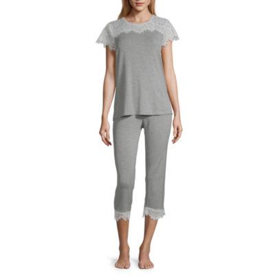 Ambrielle Capri Pajama Set Round Neck
