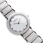Bering Womens White Ceramic Bracelet Watch-11435-754