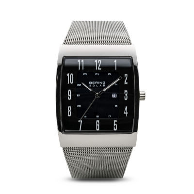 Bering Solar Mens Gray Bracelet Watch-16433-002