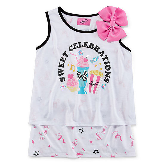 Jojo Siwa Girls Round Neck Sleeveless Graphic T-Shirt - Big Kid