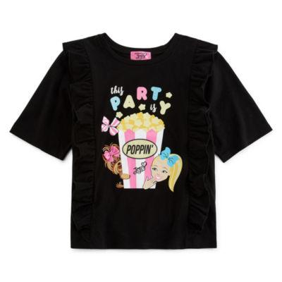 Jojo Siwa Girls Crew Neck Short Sleeve Graphic T-Shirt