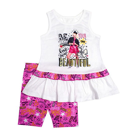 Jojo Siwa Girls 2-pc. Short Set Preschool / Big Kid