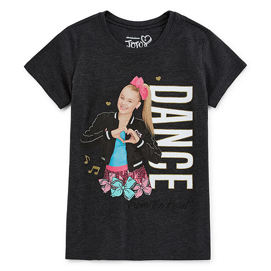 Jojo Siwa Girls Crew Neck Short Sleeve Graphic T-Shirt - Preschool / Big Kid