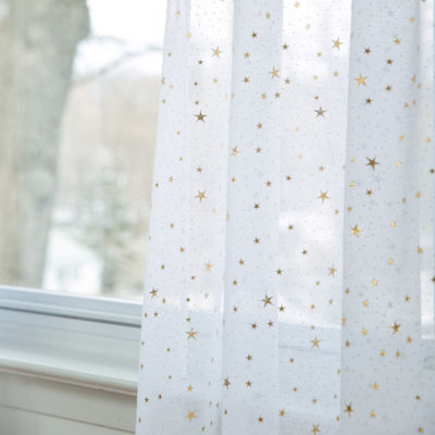 Frank And Lulu Star Dust Rod-Pocket Sheer Curtain Panel