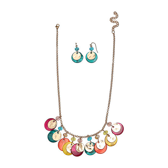 Mixit Multi Disc Neck And Ear Gold Tone 2-pc. Jewelry Set