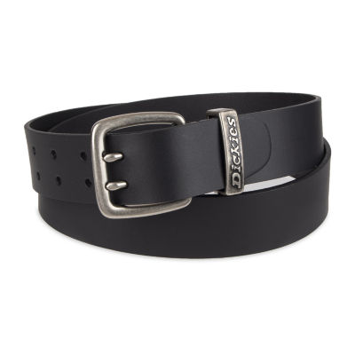 Dickies® Leather Men's Belt with Double Prong Buckle