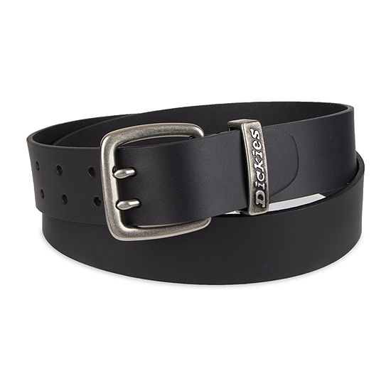 Dickies Leather Mens Belt With Double Prong Buckle