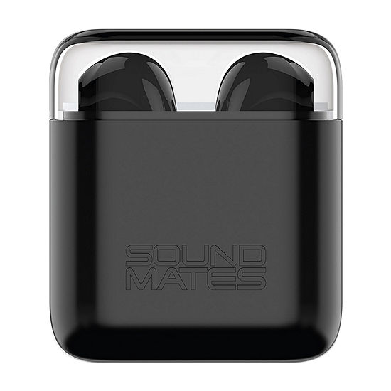 Tzumi SoundMates True Wireless Earbuds with Protective Charging Case - Black