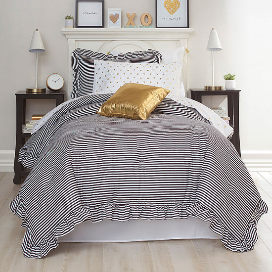 Frank And Lulu Remy Stripes Midweight Comforter Set