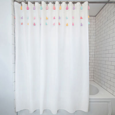 Frank And Lulu Tassel 13-pc. Shower Curtain Set