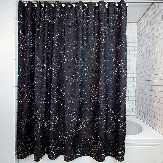 Frank And Lulu Glow in the Dark Astro 13-pc. Shower Curtain Set
