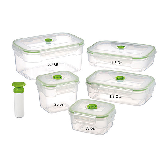 Lasting Freshness 11-piece Vacuum Food Storage Containers, Rectangular