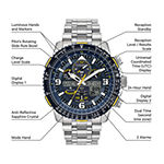Citizen Promaster Skyhawk A-T Mens Silver Tone Stainless Steel Bracelet Watch - Jy8078-52l