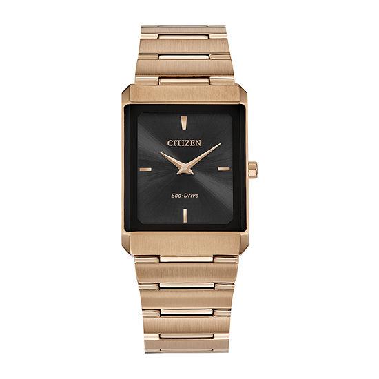 Citizen Stiletto Mens Rose Goldtone Stainless Steel Bracelet Watch - Ar3103-58e