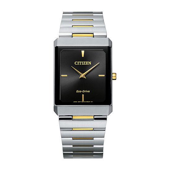 Citizen Stiletto Mens Two Tone Stainless Steel Bracelet Watch - Ar3104-55e