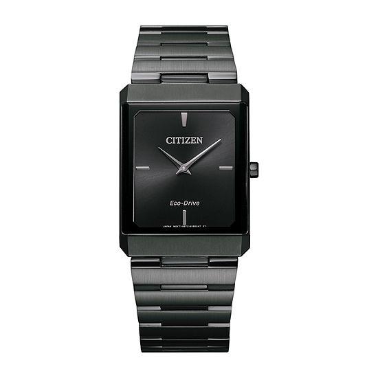 Citizen Stiletto Mens Gray Stainless Steel Bracelet Watch - Ar3107-57e