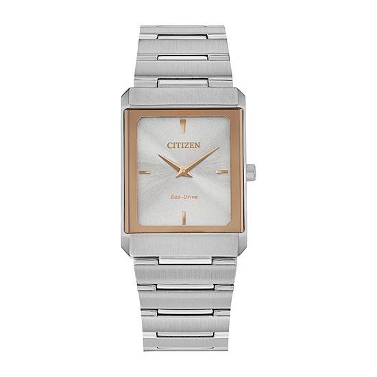 Citizen Stiletto Womens Silver Tone Stainless Steel Bracelet Watch - Eg6016-58a