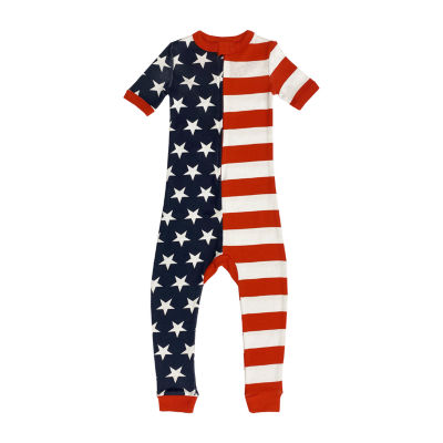 Americana Family Toddler Unisex Short Sleeve One Piece Pajama